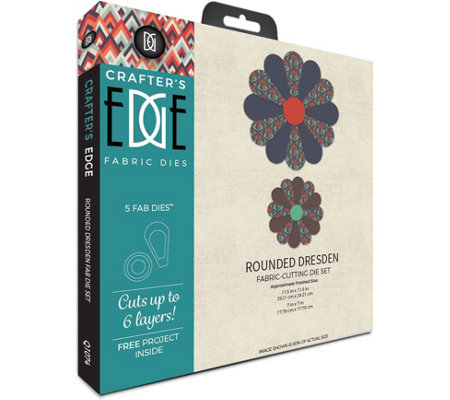 Crafter's Edge Rounded Dresden Fabric Dies