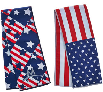 Mission Set of 2 Large Americana Cooling Towels - F12334