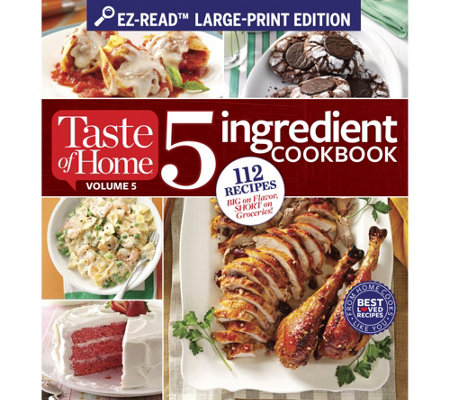 "Taste of Home ""5 Ingredient"" and ""Make Ahead"" Large Print Cookbooks"
