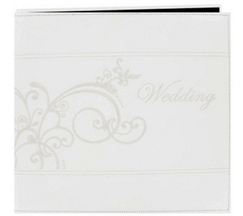 "Embroidered Scroll Faux-Leather Post-Bound Album 12""x12"" - F247236"