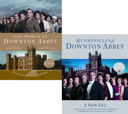 Set of 2 Downton Abbey Hardcover Season 2 & 3 Books