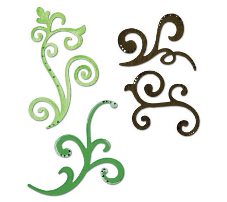 Sizzix Sizzlits Die Set 3/Pkg-Decorative Flourishes