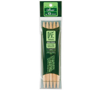"Bamboo Double Point Knitting Needles 7"" 5/Pkg-Size 13 - F247138"