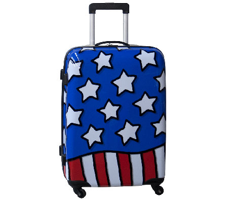 "Ed Heck Stars n Stripes Hardside 25"" Spinner Luggage"