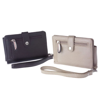 Travelon Set of Two Individually Boxed Leather Wallets