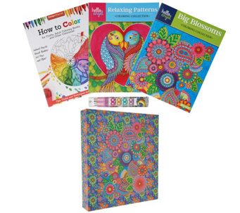 Fox Chapel Set of 2 Coloring Books, 12 Pencils and Gift Box - F12440