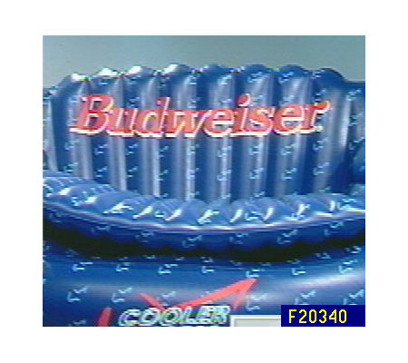 Budweiser cooler couch inflatable sofa and cooler for Coole couch