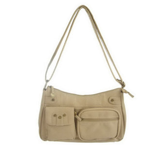Travelon Pocket Hobo Shoulder Bag with LED Light - F09141