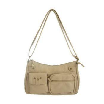 Travelon Pocket Hobo Shoulder Bag with LED Light