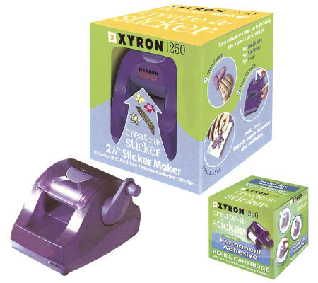 Xyron 250 Create-A-Sticker with Cartridge and Adhesive Film