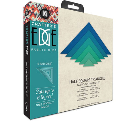 Crafter's Edge Half Square Triangles Fabric Dies