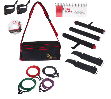 &quotThe Gym in a Bag&quot Workout System with Grip-Free Cuffs by Flexsolate