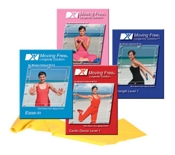 Mirabai Holland Ease-in Exercise DVD Set & Latex Band - F247442
