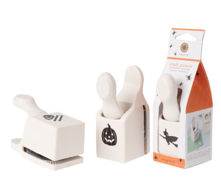 Martha stewart crafts set of 3 halloween craft punches for Pre punched paper for crafts