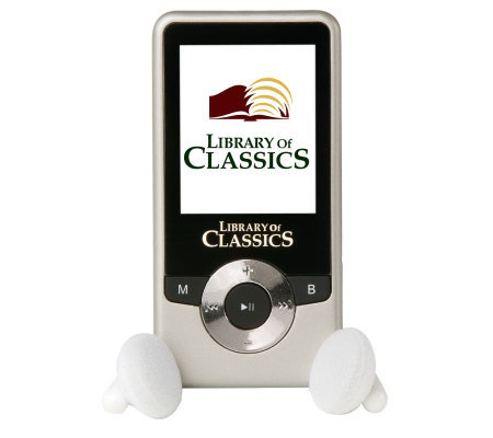 Library of Classics MP3 Player w/100 Pre-loaded Books & Music