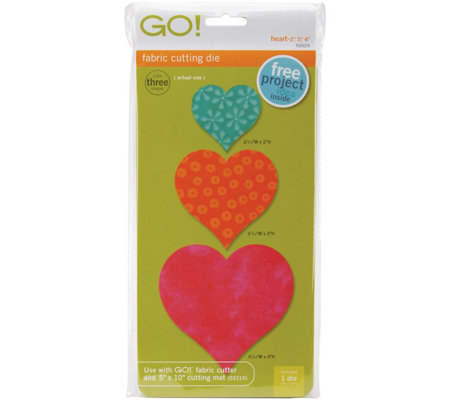 "GO! Fabric Cutting Dies Heart 2"", 3"", and 4"""