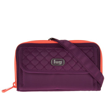 Lug Convertible RFID Wallet with Strap -Kickflip - F12344