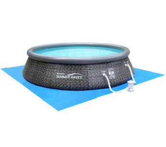"""As Is"" Quick Set Inflatable Instant 12' Swimming Pool - F198449"