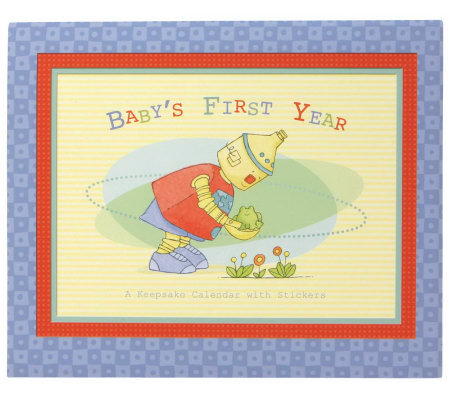 C.R. Gibson Baby Bots First Year Calendar