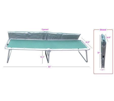 Giga Tent Comfort Cot with Mattress