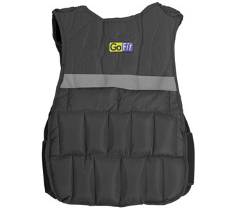 GoFit GF-WV10 10-lb Unisex Adjustable WeightedVest - F195452