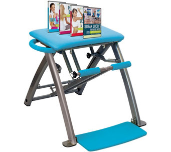 Shp 3/13Pilates PRO Chair with 4 DVD's by Life's Life's a Beach - F12754