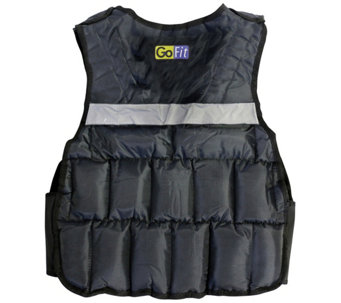 GoFit GF-WV20 20-lb Unisex Adjustable WeightedVest - F195454