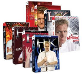 Gordon Ramsay Hell's Kitchen Season 1-8 Box Set Collection - F11155