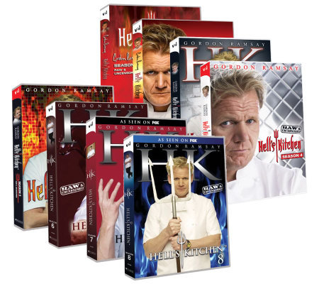 Gordon Ramsay Hell's Kitchen Season 1-8 Box Set Collection