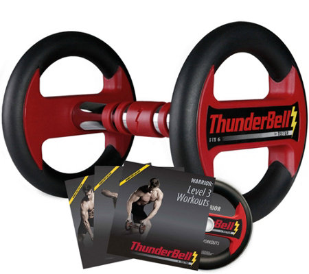 ThunderBell Fit 6 Complete Training Program with 3 DVDs