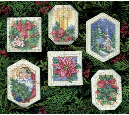 Gold Collection Christmas Ornaments Counted Cross Stitch