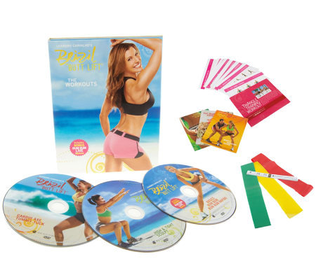 Brazil ButtLift Lower Body Workout with 3 DVD & 3 Booty Bands