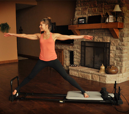 AeroPilates Reformer Plus 4 Cord Machine with Rebounder and 2 DVD's