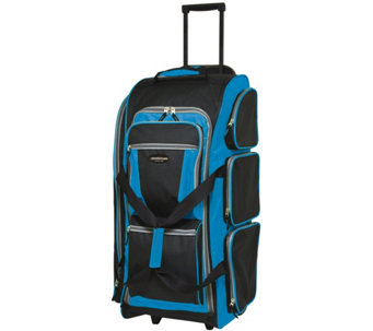 "Travelers Club 30"" Multi-Pocket Sports RollingDuffel - F249356"