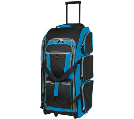 "Travelers Club 30"" Multi-Pocket Sports RollingDuffel"