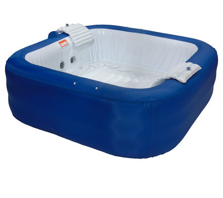Inflatable Portable 4-Person Hot Tub with Filter & Cover