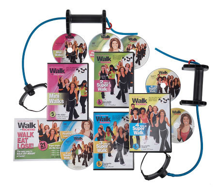 LeslieSansone's Walk-Eat-Lose! 7 DVD Program w/ Boost Cables and Meal Plan