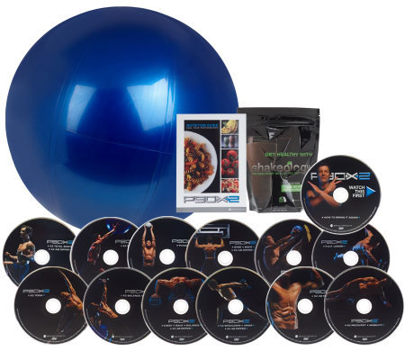 P90X2 13 DVD Workout Program with Stability Ball and Shakeology