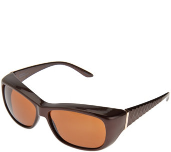 Haven Molded Geometric Pattern Fits Over Sunglasses - F12160