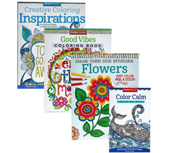 Fox Chapel Publishing Set of 4 Adult Coloring Books - F12260