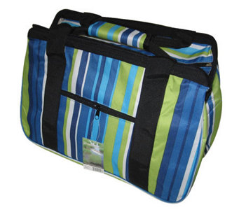 "Janet Basket Blue Stripes Eco Bag -18""x10""x12"" - F246760"