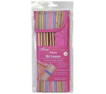 "Takumi Single Point 9"" Knitting Needles Gift Set Sizes 8-15 - F247060"