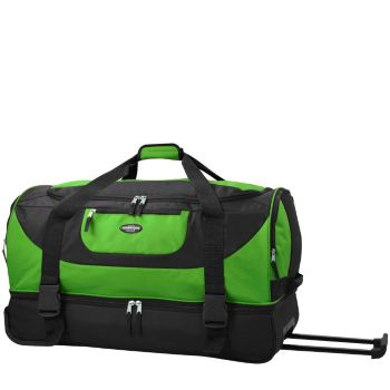 Travelers Club 30 2-Section Drop-Bottom Rolling Duffel