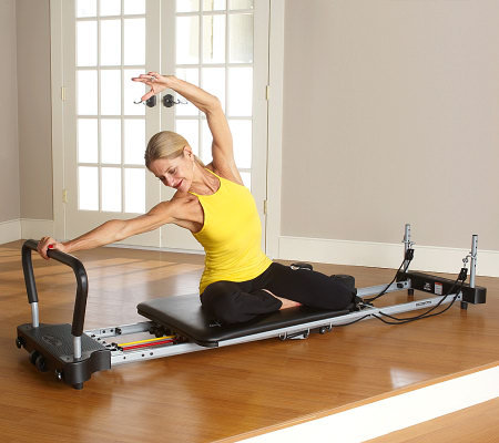 pilates workout with machine