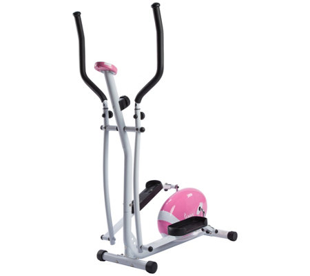 Sunny Health & Fitness Pink Magnetic EllipticalTrainer