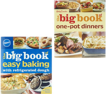 "Betty Crocker ""Big Book of Baking"" & ""One Pot"" 2 Cookbook Set - F12064"