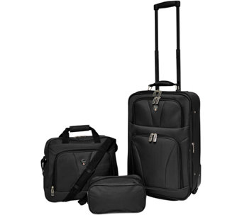 Travelers Club Softside Expandable Value Luggage Set - Bowman - F249364