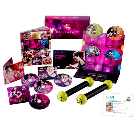 Zumba Fitness Exhilarate Workout w/Zumba Cookbook& SHAPE Subscription