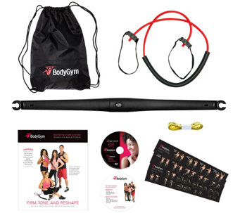 BodyGym Deluxe Portable Resistance Band Home Gym with DVDs and Bag - F12065