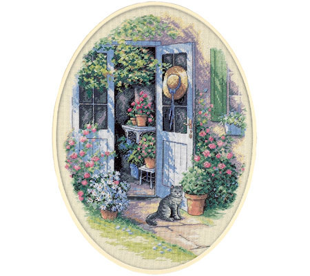Dimensions Garden Door Counted Cross-stitch Kit